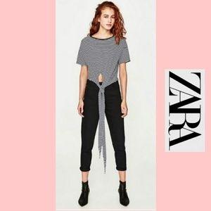 Zara Tie Front Tee